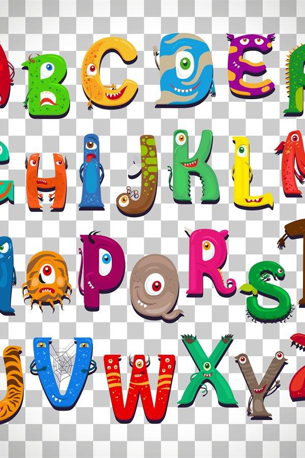 monster alphabet on transparent background  862341