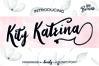 Kity Katrina Script Font example image 1