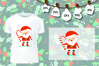 Candy Santa SVG Cut Files, Silhouette Cameo Cricut, Dxf Svg example image 2