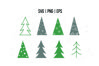 Christmas Trees SVG, abstract decorative Christmas trees example image 1