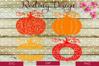Pumpkin SVG - Monogram DXF PNG Digital Cut Files example image 1