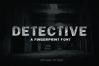 DETECTIVE, a Fingerprint Typeface example image 1
