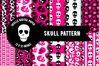Skull pattern, Skull digital paper, Horror pattern example image 1