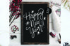 Happy New Year!- Hand Lettered New Years- SVG DXF PNG example image 1