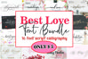 Best Love Font Bundle example image 1