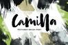 Camilla - Textured Brush Font example image 1
