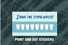 Daily Habit Tracker Stickers, Drink The Stupid Water! example image 3