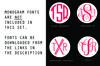 Football Svg Monogram, Circle Frames, Cuttable Design example image 3