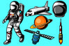 Astronaut Vector Pack example image 1