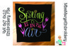 Spring is in the Air Embroidery | Spring Embroidery Design example image 1