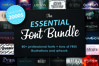 FONT BUNDLE - Over 80 professional fonts example image 1