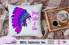 Girl with Headdress sublimation file example image 5