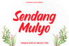 Sendang Mulyo - Brush Display Font example image 1
