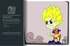 Dragonball Z Son Goku Cartoon Illustration Vector example image 1