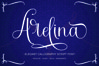 Arelina Script Font example image 1