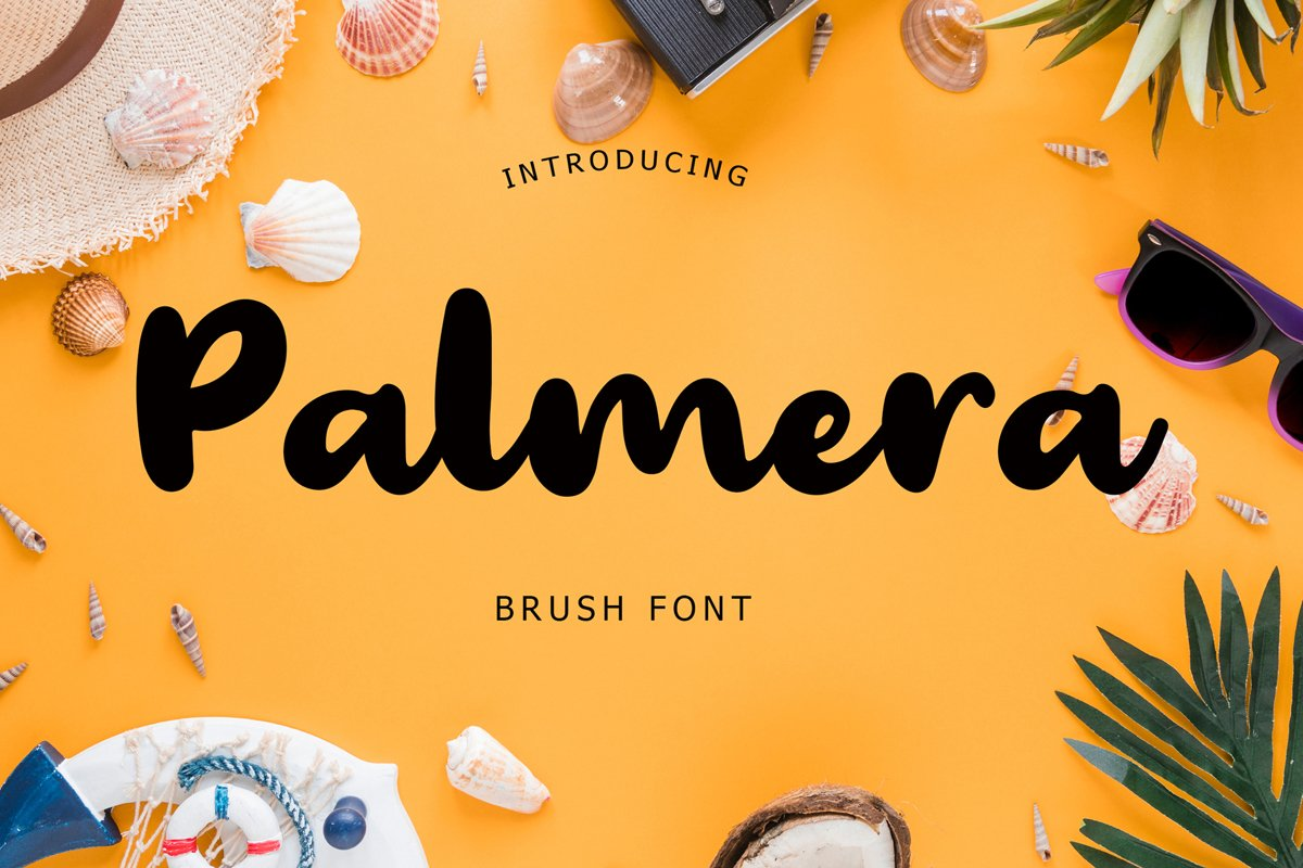 Palmera Brush Font example image 1
