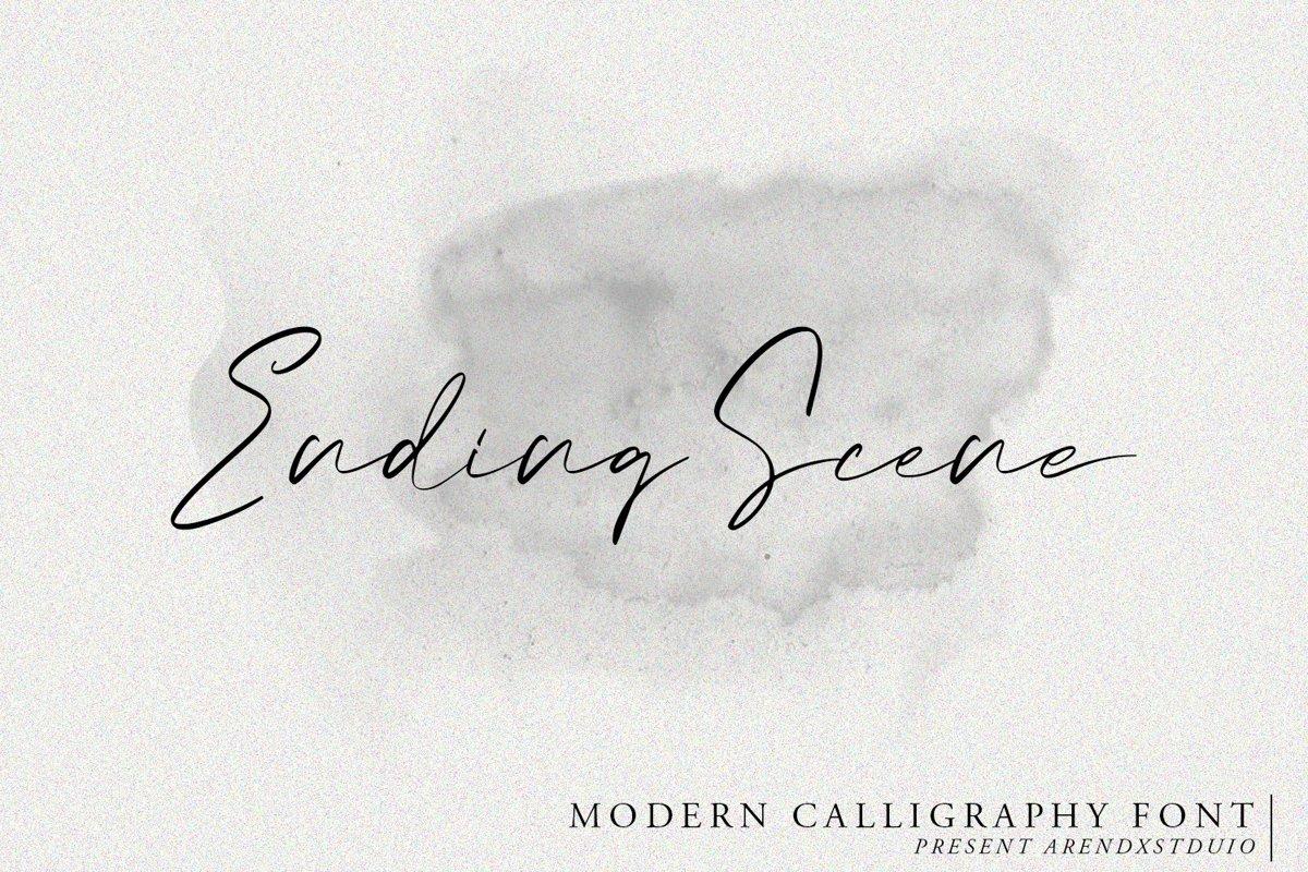 Ending Scene | Calligraphy Font example image 1