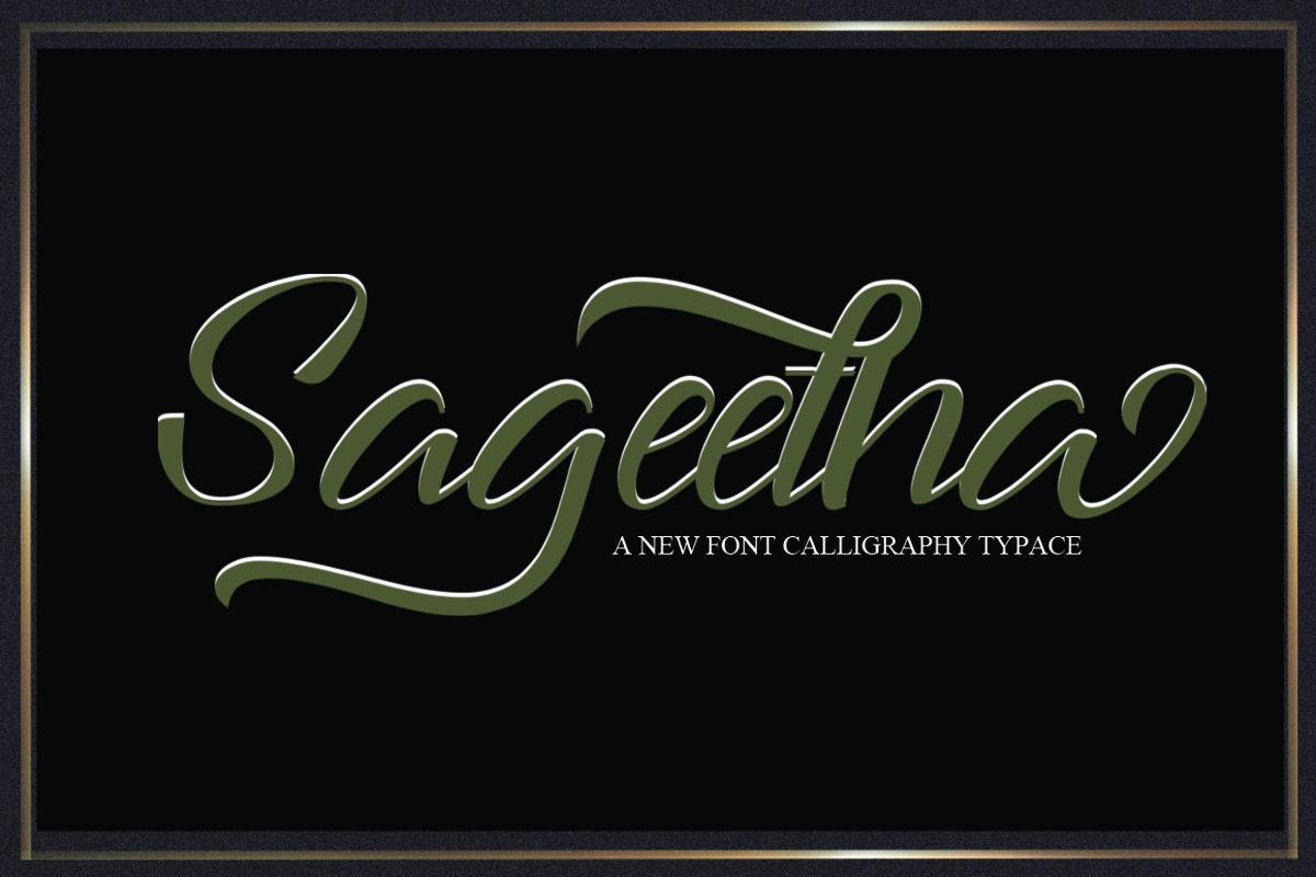 Sageetha Script example image 1