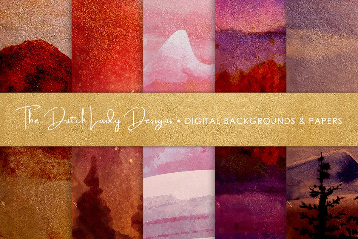 Digital Backgrounds & Papers - Winter Landscape example image 1