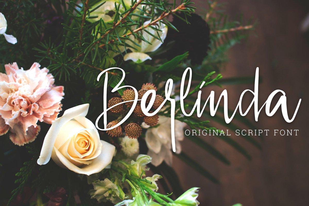 Berlinda - Handwritten Font example image 1