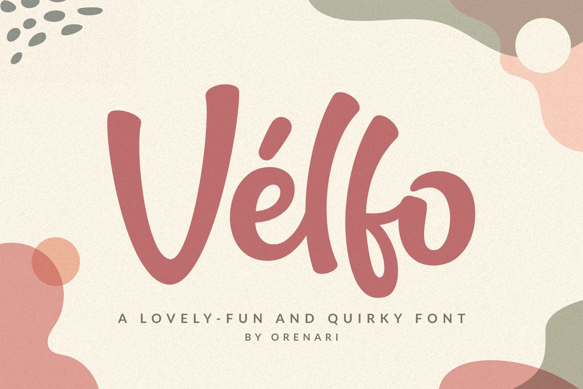 Velfo   A Lovely-Fun And Quirky Font example image 1