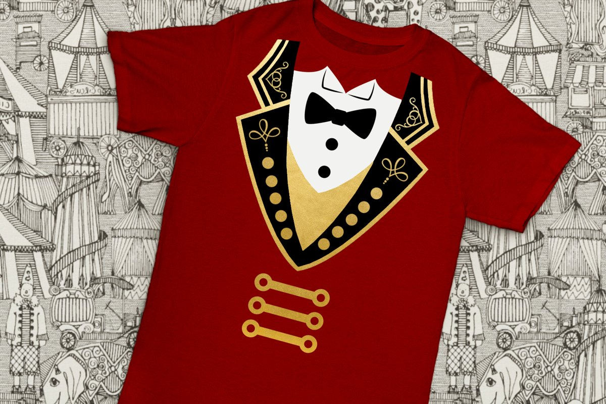Circus Ringmaster Coat and Tuxedo SVG File Cutting Template example image 1