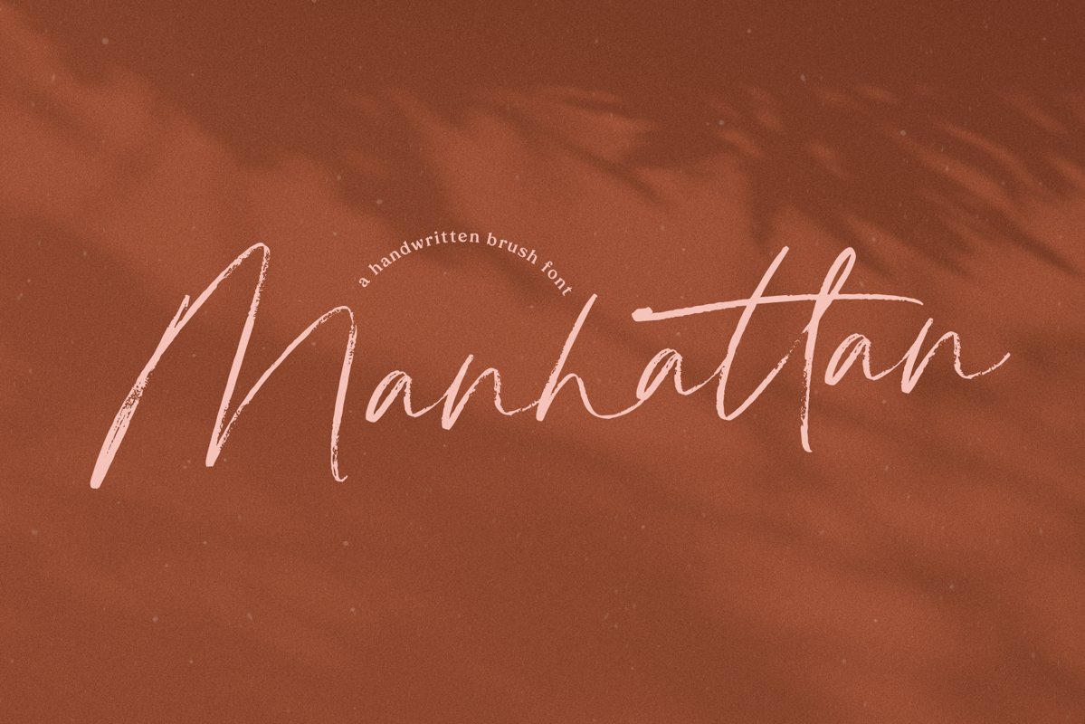 Manhattan - A Brush Script Font example image 1