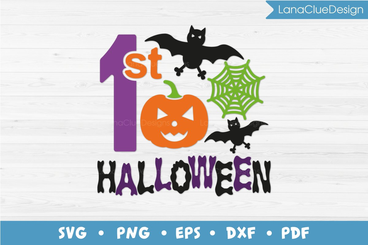 1st Halloween SVG Cut File example image 1