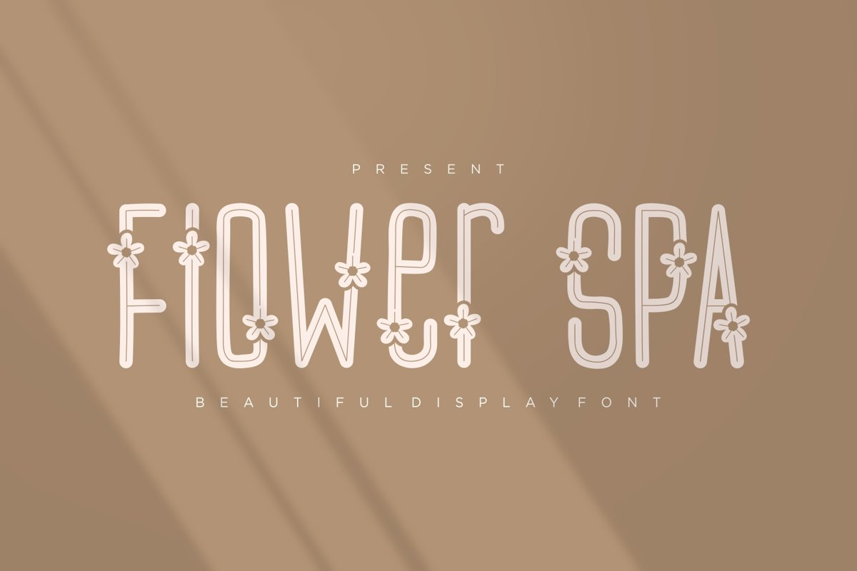 Flower Spa - Beautiful Display Font example image 1