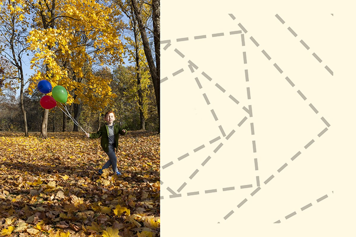 red-haired boy in autumn park example image 1