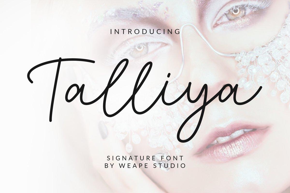 Talliya Signature Font example image 1