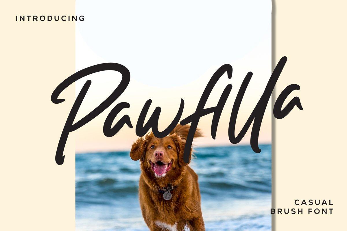 Pawfilla - Brush Font example image 1