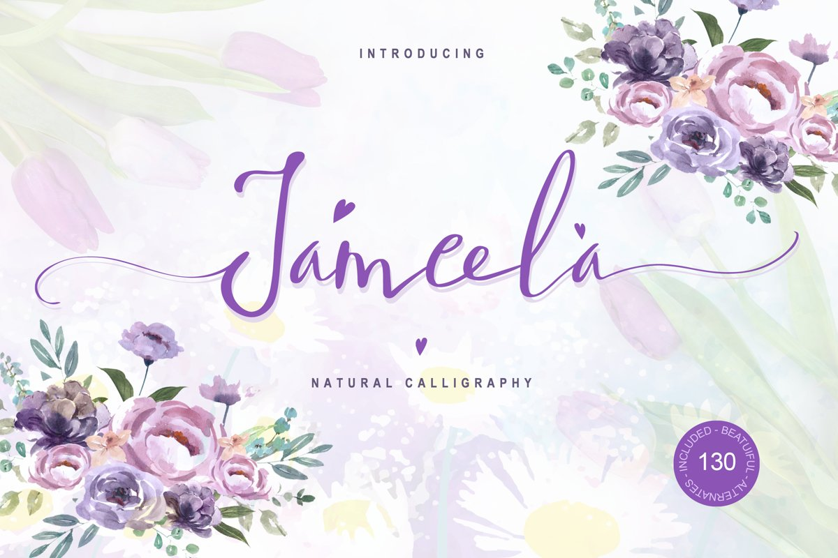 Jameela - Natural and Beautiful Script Font example image 1