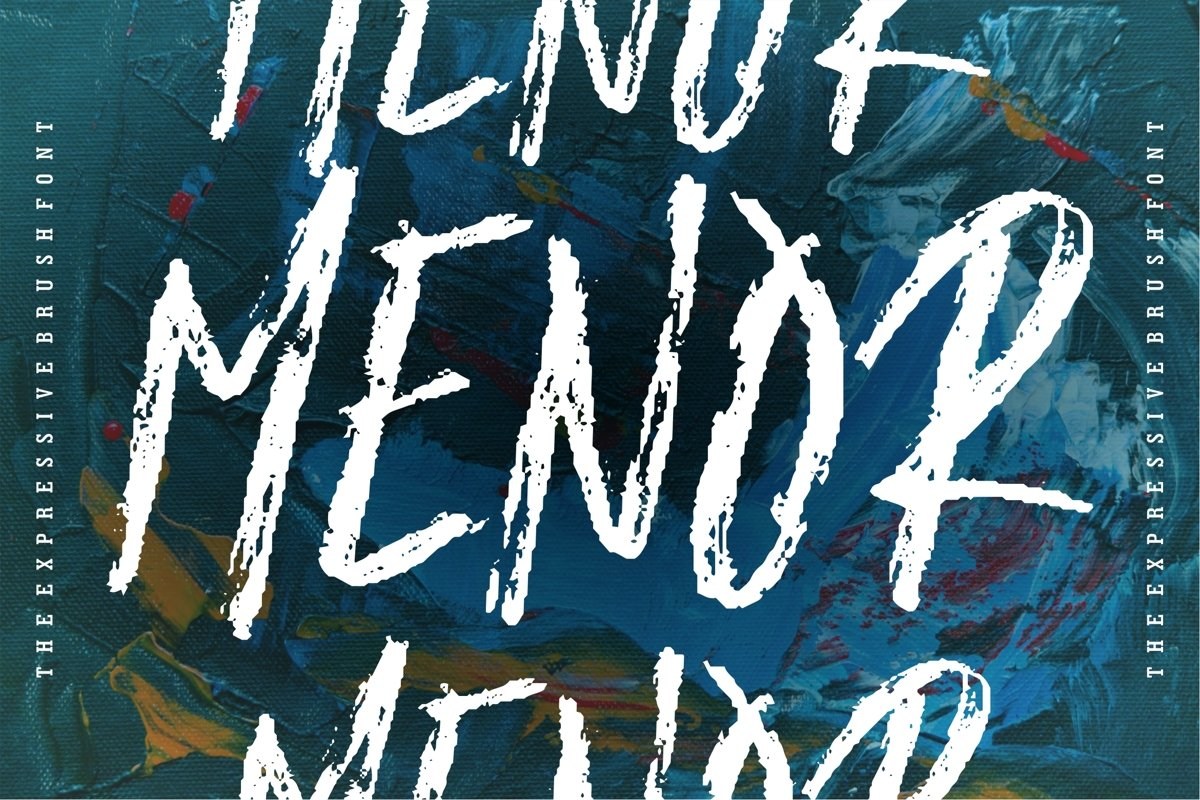 Menor - The Expresive Brush Font example image 1