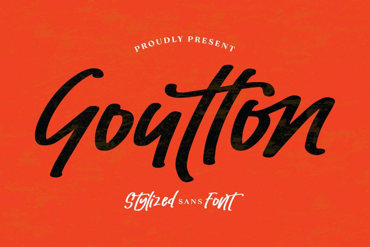 Goutton - Stylized Sans Font example image 1