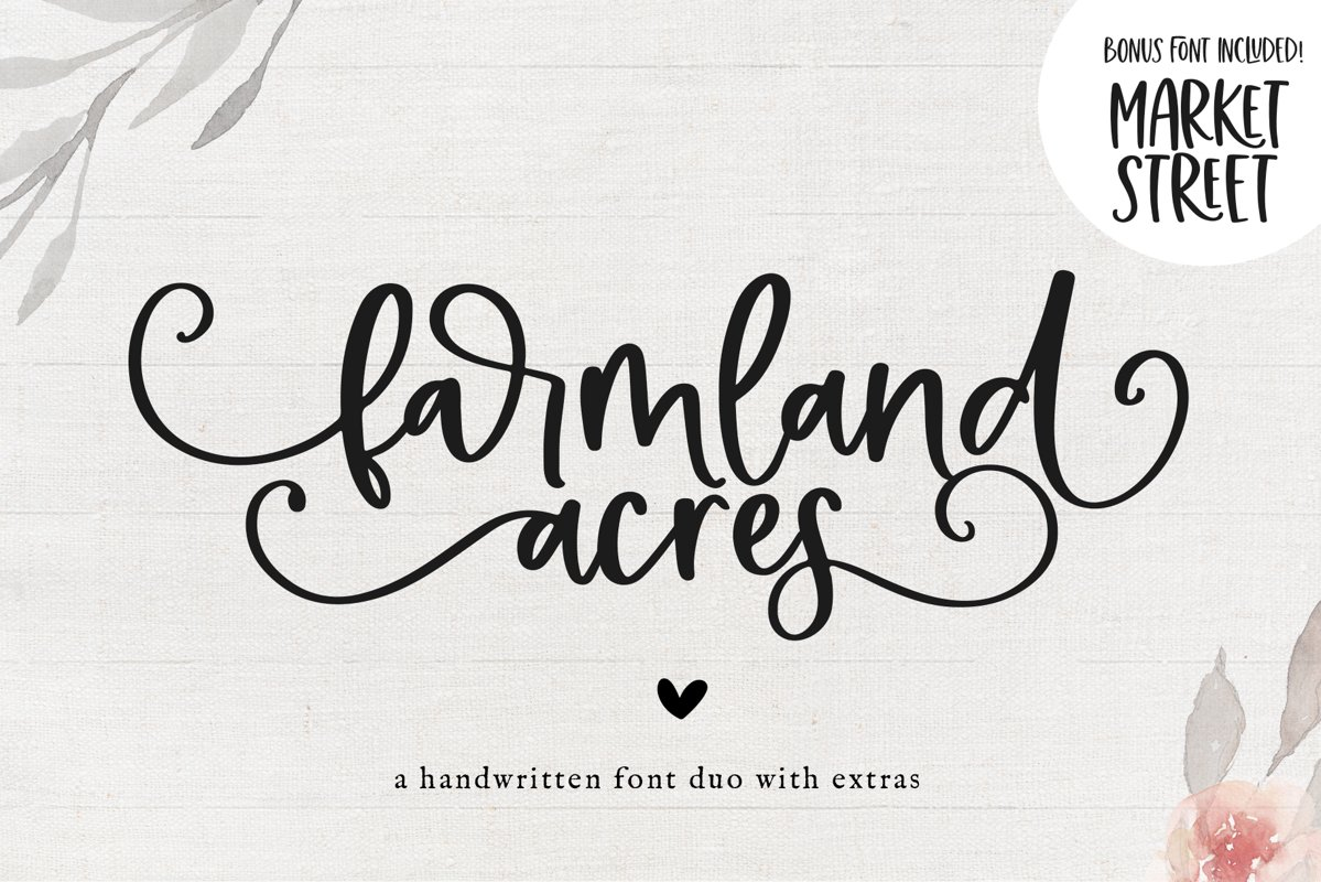 Farmland Acres - A Font Duo with Doodles example image 1