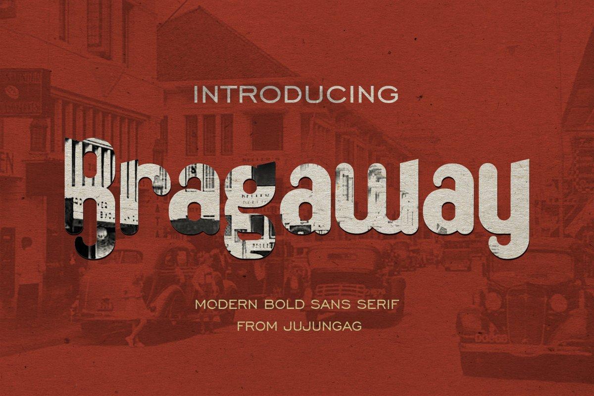 Bragaway Bold Sans Serif example image 1