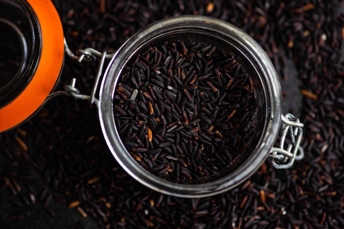 Black organic rice example image 1