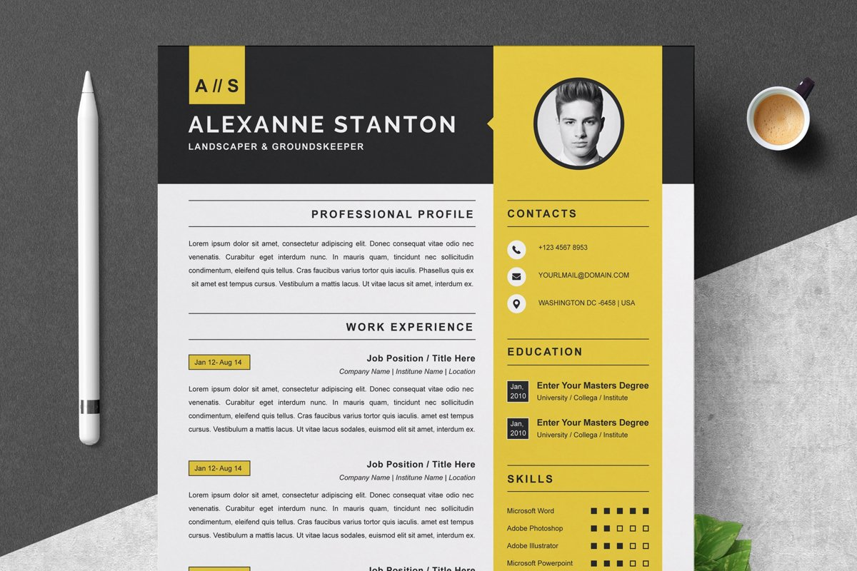 Resume Template Cv Design Template Ms Word Apple Pages