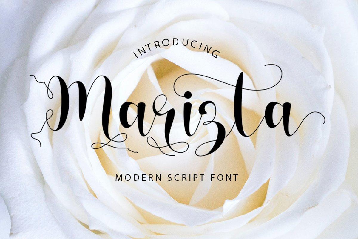Marizta Script example image 1