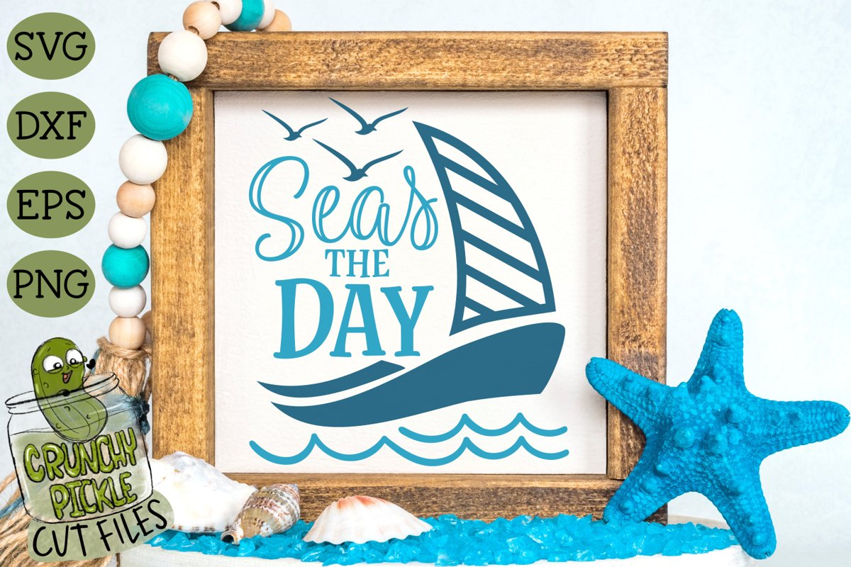 Seas the Day SVG Cut File example image 1