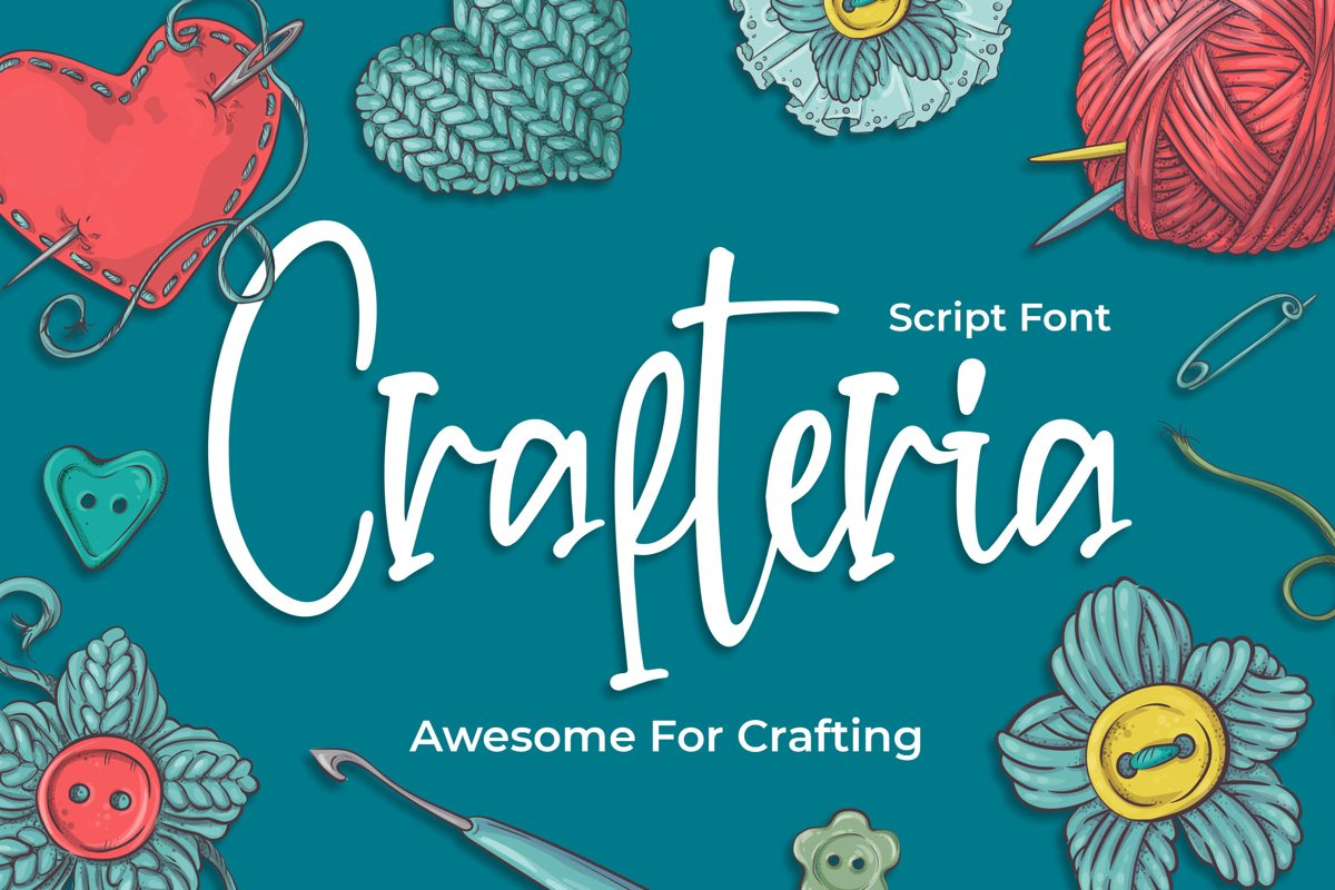 Crafteria Script Font example image 1