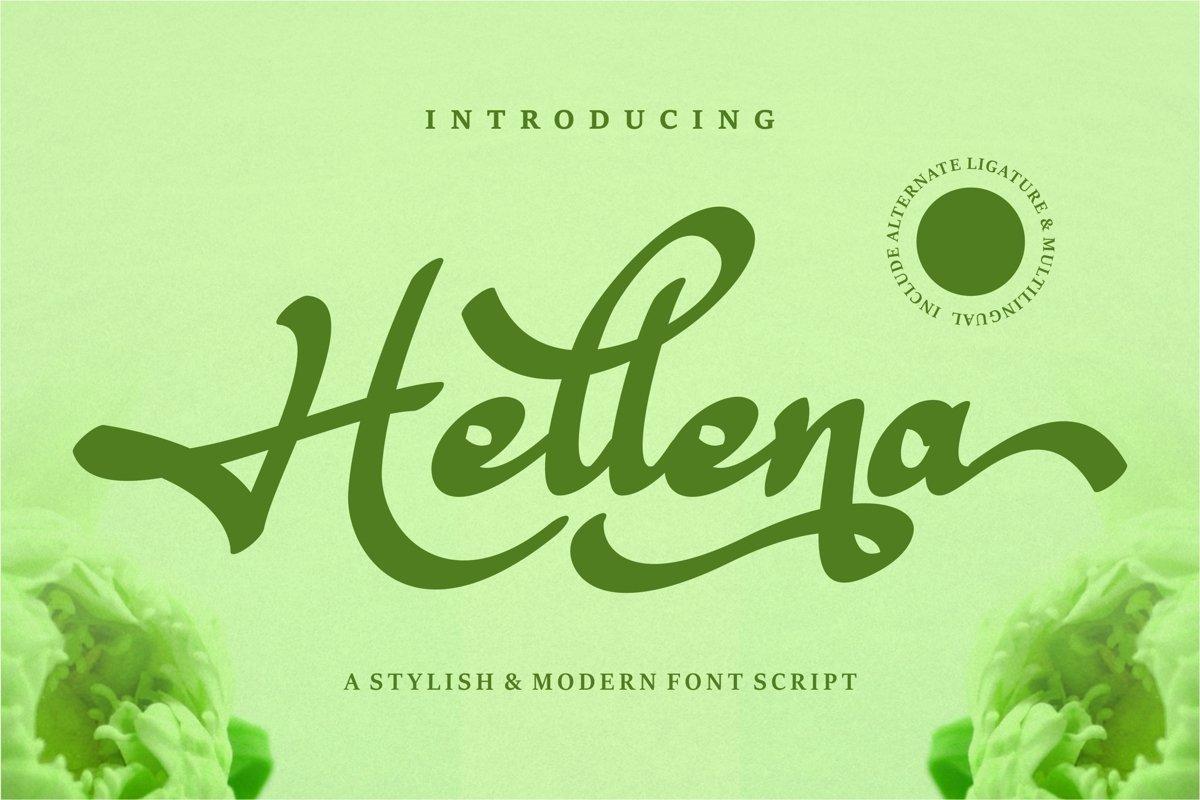 Hellena - Stylish & Modern Script Font example image 1