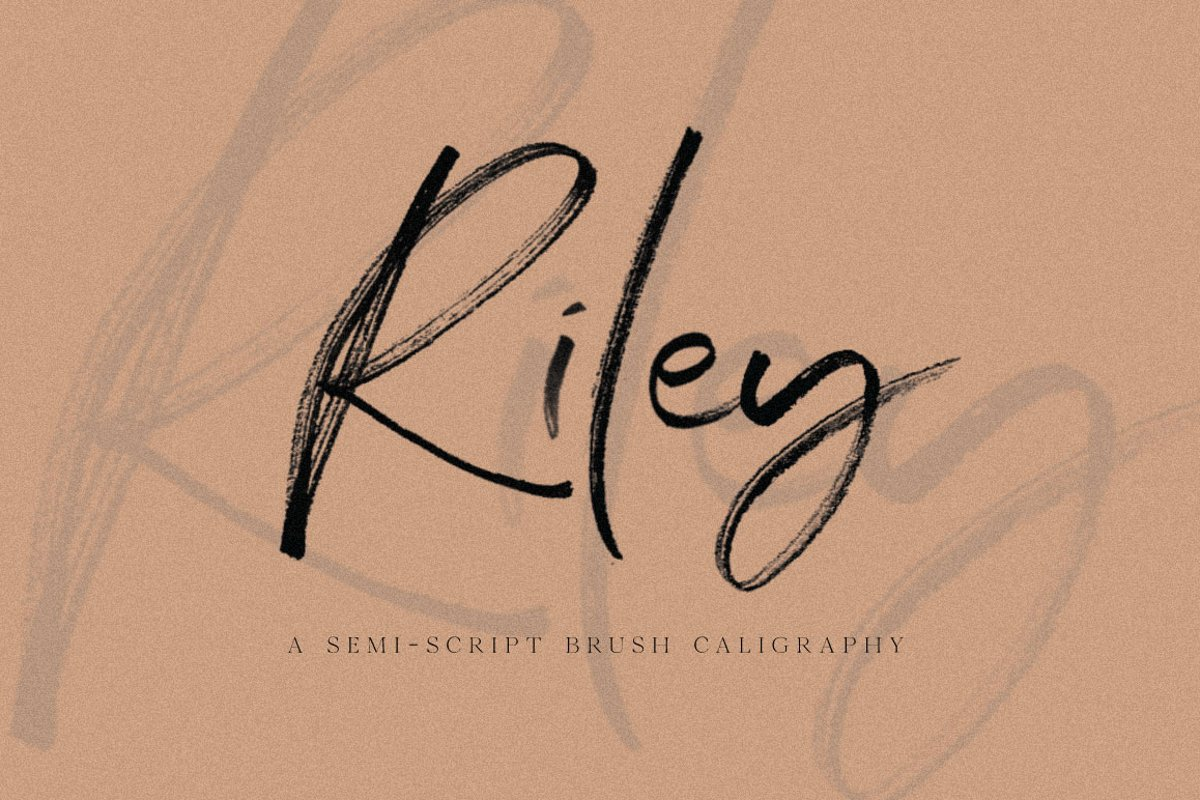 Riley SVG & Font example image 1
