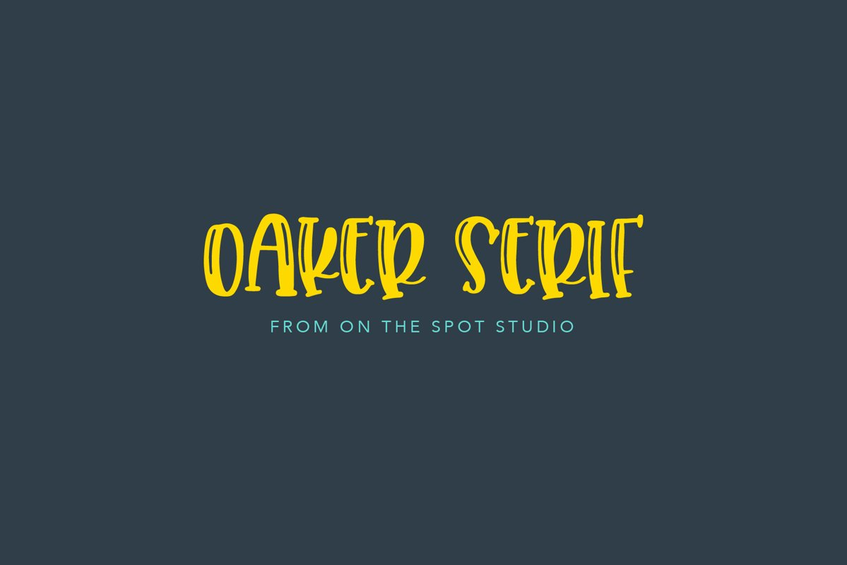 Oaker - SERIF example image 1