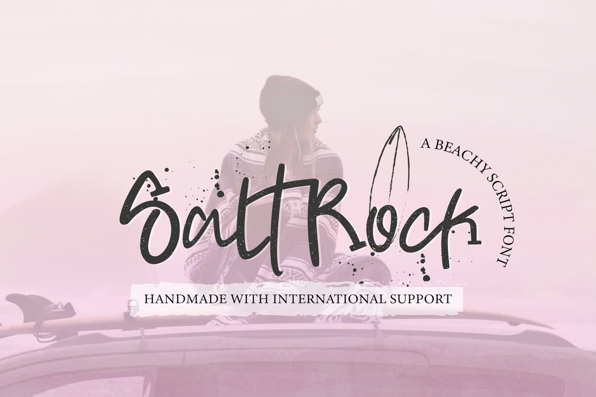 SaltRock - Beachy Script Font example image 1