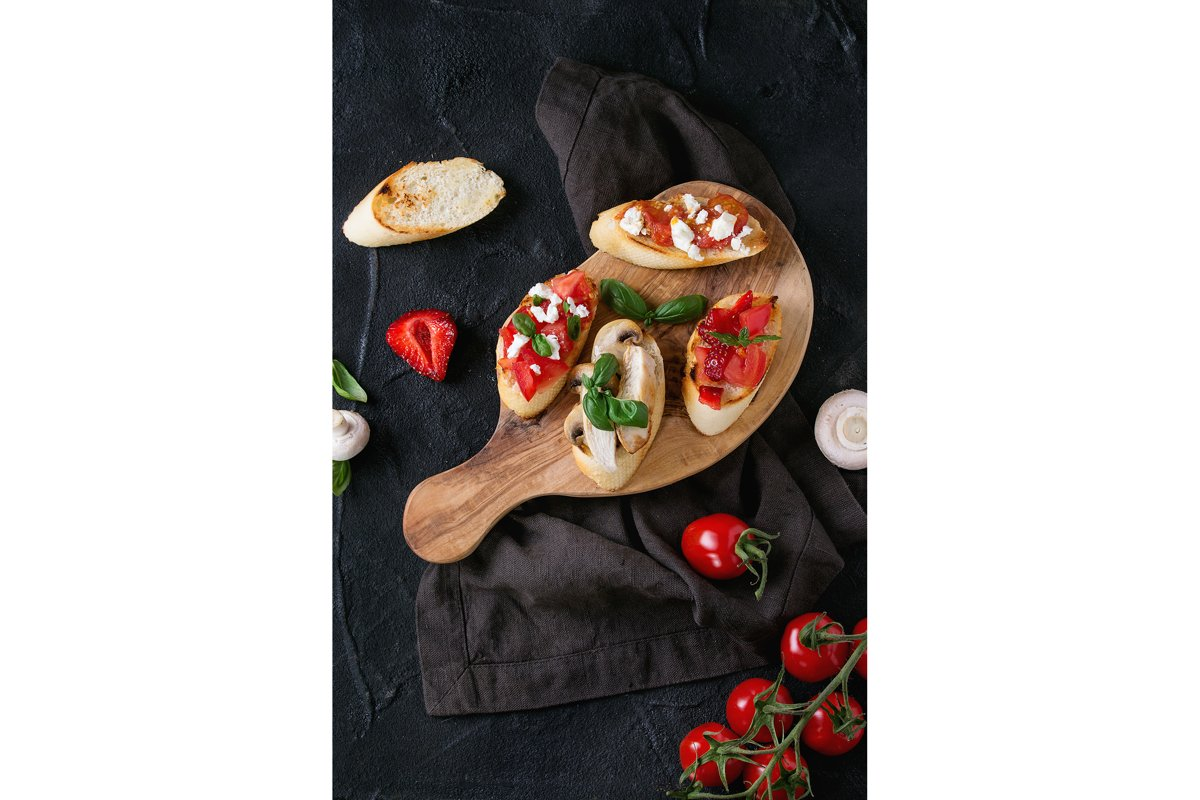 Ingredients for bruschetta example image 1