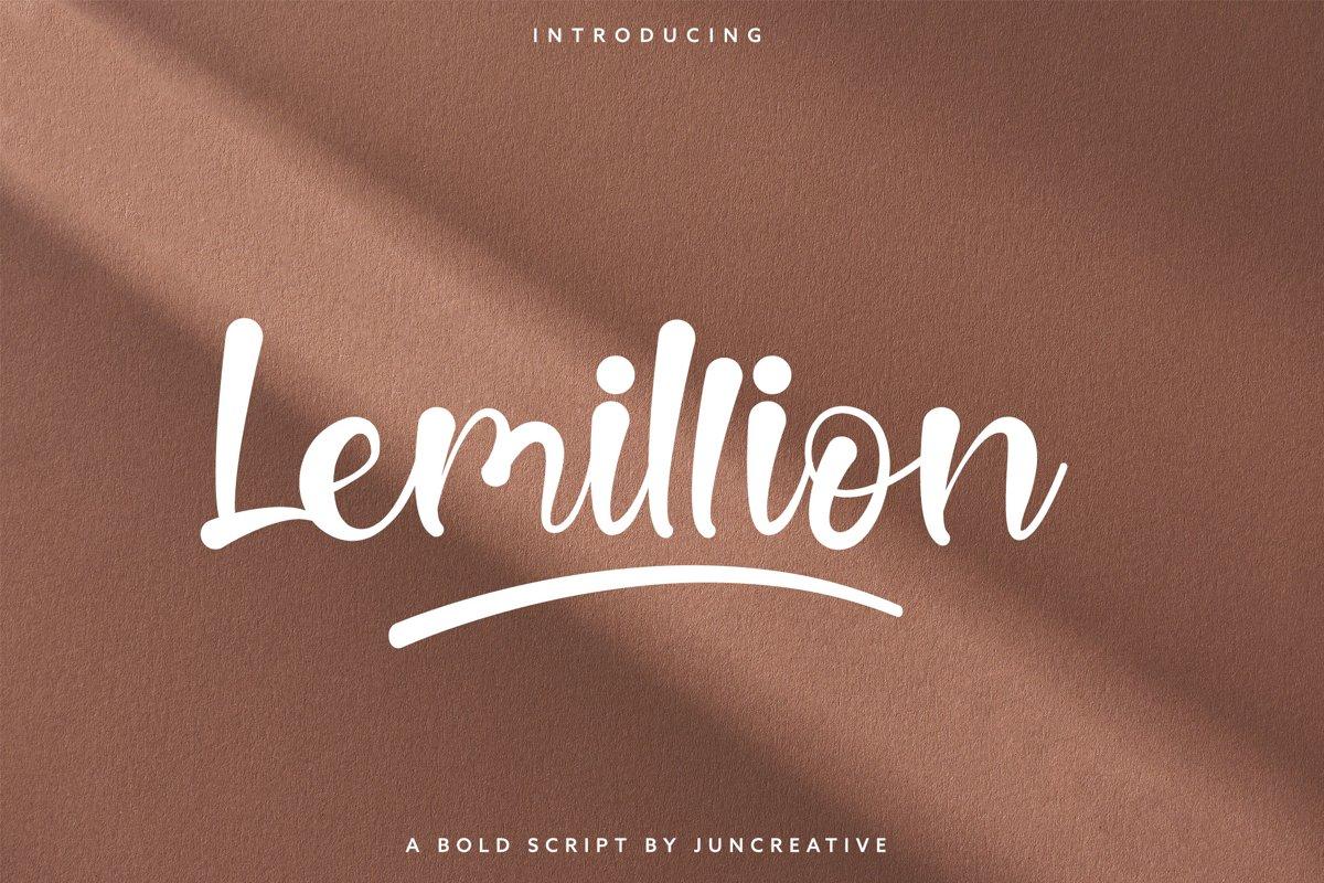 Lemillion Bold Script example image 1