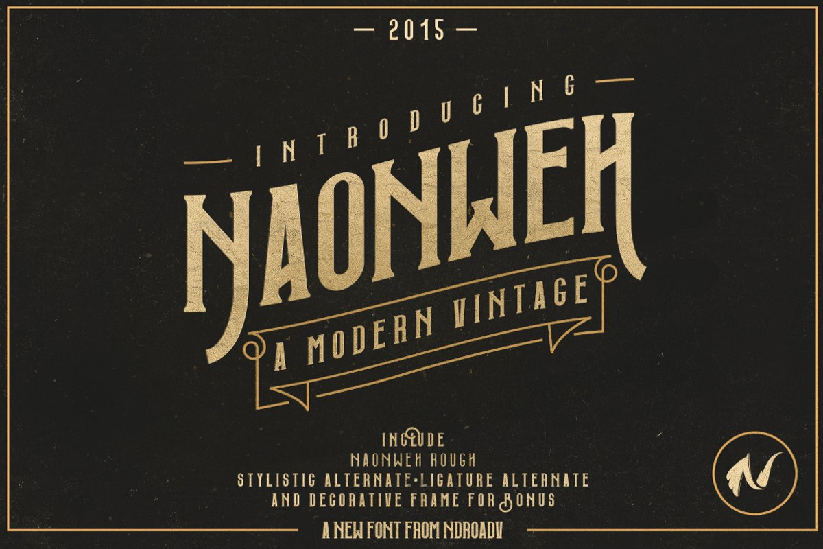 Web Font Naonweh Typeface example image 1