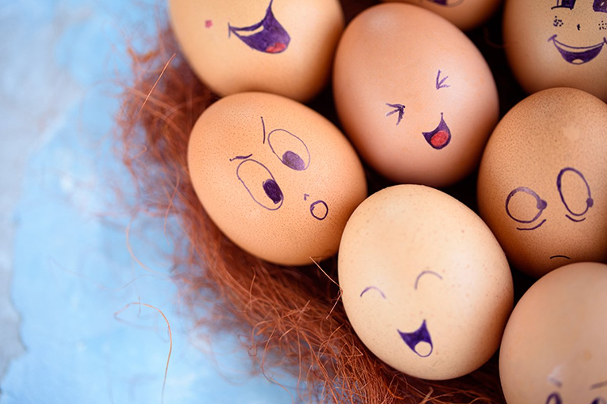 Eggs with different emotions example image 1